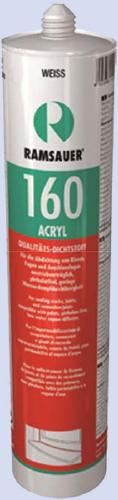 RAMSAUER 160 ACRYL PREMIUM Пластичный долговечный акрилатный герметик премиум-класса для герметизации строительных соединительных швов с деформацией до 20%