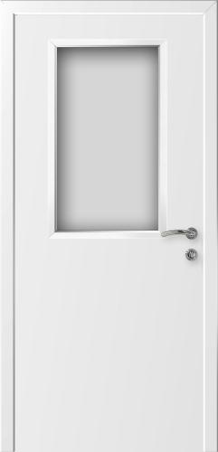 """Дверь влагостойкая композитная гладкая """"Капель (Kapelli)"""" (белая) со стеклом"""