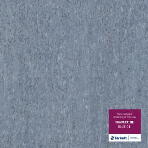 Коммерческий гетерогенный линолеум Tarkett TRAVERTINE blue 01