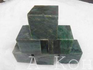 Нефрит для бани и сауны (кубики)