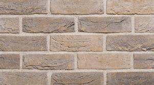 Фасадная клинкерная плитка под кирпич, ручная формовка Brickhoff, DKK410, Серый беж