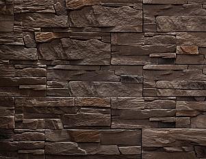 Искусственный камень Каменный утес, шоколад