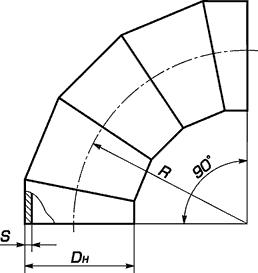 Отвод секторный сварной Сер.5.903-13 вып.1-95 ст.17г1с ст.09г2с