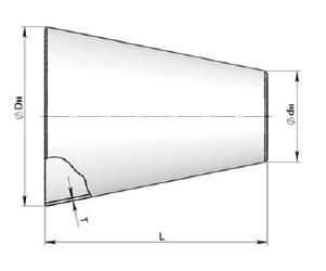 Переход концентрический вальцованный сварной Сер.5.903-13 вып.1-95 ст.17г1с ст.09г2с