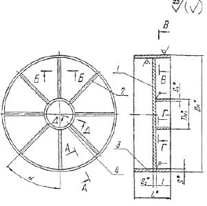 Заглушка плоская приварная с ребрами ОСТ 34-42-759-85