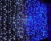 """Гирлянда светодиодная """"ШТОРА"""" 2*1.5м цвет синий В НАЛИЧИИ"""