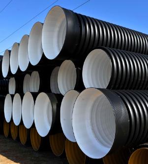 Труба гофрированная 315/271мм для наружной канализации SN6 с раструбом (6 метров) для дачи!
