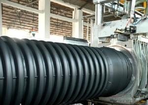 Труба гофрированная 160/136мм для наружной канализации SN8 с раструбом (6 метров)