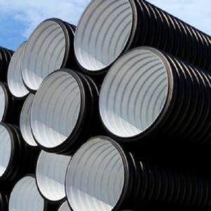 Труба гофрированная 200/171мм для наружной канализации SN8 с раструбом (6 метров)