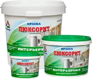 Люксорит - краска акриловая для стен и потолков супербелая