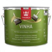 """""""TIKKURILA"""" Vinha (Винха Тиккурила, Финляндия) — кроющая водоразбавляемая краска-антисептик для наружных деревянных поверхностей, 9л"""