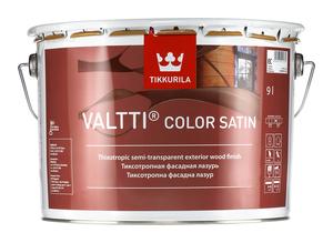 """""""TIKKURILA"""" Valtti Color Satin (Валтти Колор Сатин Тиккурила, Финляндия) — колеруемый лессирующий антисептик для дерева на основе масел, для наружных работ, 9л"""