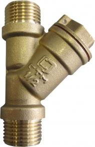 Фильтр воды сетчатый косой, Ду15, резьба НН