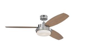 Люстра вентилятор (потолочный вентилятор со светильником) Alloy Nickel