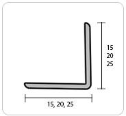 Угол металлизированный 20х20