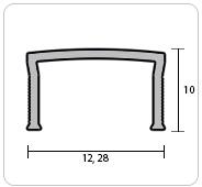 """Профиль """"П"""" (вставка) для плитки металлизированный"""