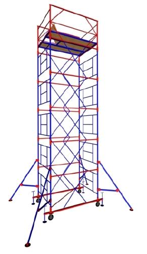 Вышка тур МЕГА-1 на высоту 7,5 метра передвижная