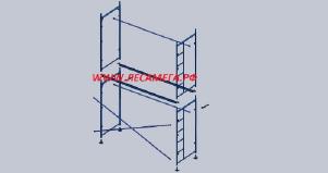 Рама с лестницей для строительных лесов рамного типа лрс-40
