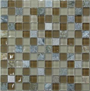Мозаика стеклянная с камнем Bonaparte Free time-23