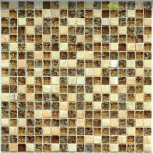 Мозаика стеклянная с камнем Bonaparte Glass Stone 3