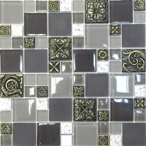 Мозаика стеклянная с камнем Bonaparte Liberty -5