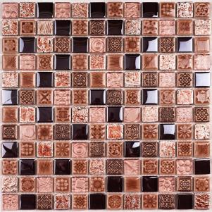 Мозаика стеклянная с камнем Bonaparte Sudan