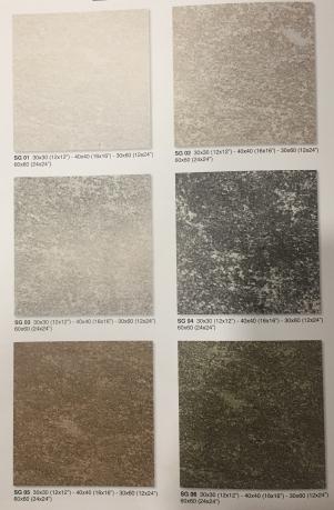 Керамический гранит неполированный Estima Strong - SG01,SG02,SG03,SG04,SG05,SG06 -40х40 см