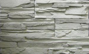 Декоративный камень СКАЛА, белый 01