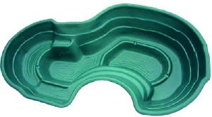 Декоративный цветной садовый пластиковый пруд 640л. Цвет: Зеленый