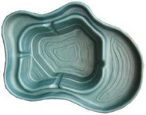 Декоративный цветной пластиковый садовый пруд 500л. Цвет: Зеленый