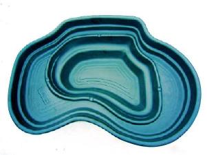 Декоративный цветной пластиковый садовый пруд 440л. Цвет: Зеленый