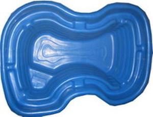 Декоративный цветной пластиковый садовый пруд 400л. Цвет: Cиний