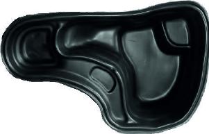 Декоративный пластиковый садовый пруд 150л. Цвет: Черный