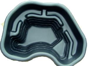 Декоративный пластиковый садовый пруд 120л. Цвет: Черный