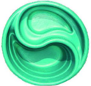 Декоративный цветной пластиковый садовый пруд 80л. Цвет: Зеленый