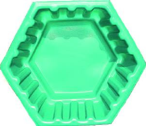 """Клумба садовая пластиковая """"Ромб"""" малый Объем: 50л. Цвет: Зеленый"""