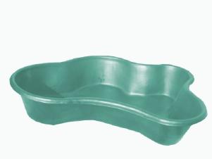 Декоративный цветной пластиковый садовый пруд 1300л. Цвет: Зеленый