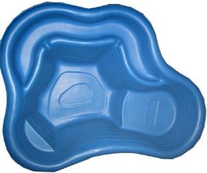 Декоративный цветной пластиковый садовый пруд 135л. Цвет: Синий