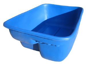 Купель пластиковая прямоугольная малая. Цвет: Синий. Вес 20кг