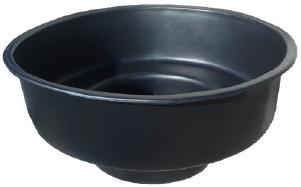 Купель пластиковая четырехместная круглая Черный