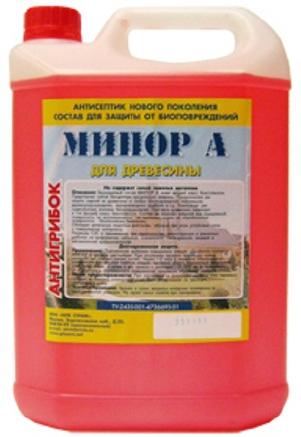 Антисептик, универсальный биозащитный состав Мипор А (дерево) и Б (бетон, кирпич) концентрат 1:10