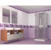 Панели пвх с 3d рисунком UNIQUE коллекция Капли росы фиолетовый