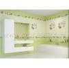 Панели пвх с 3d рисунком UNIQUE коллекция Яблоневый цвет зелёный